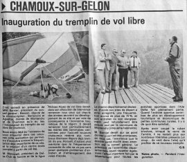 Inauguration du tremplin de Vol libre, mai 1984-DL 16-5-1984