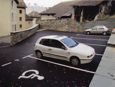 le parking du Haut Chamoux