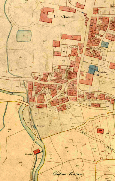 Chateauvieux Cadastre 1882, ADS